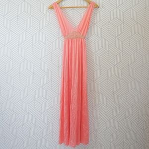 Vintage Bright Pink Maxi  Night Dress